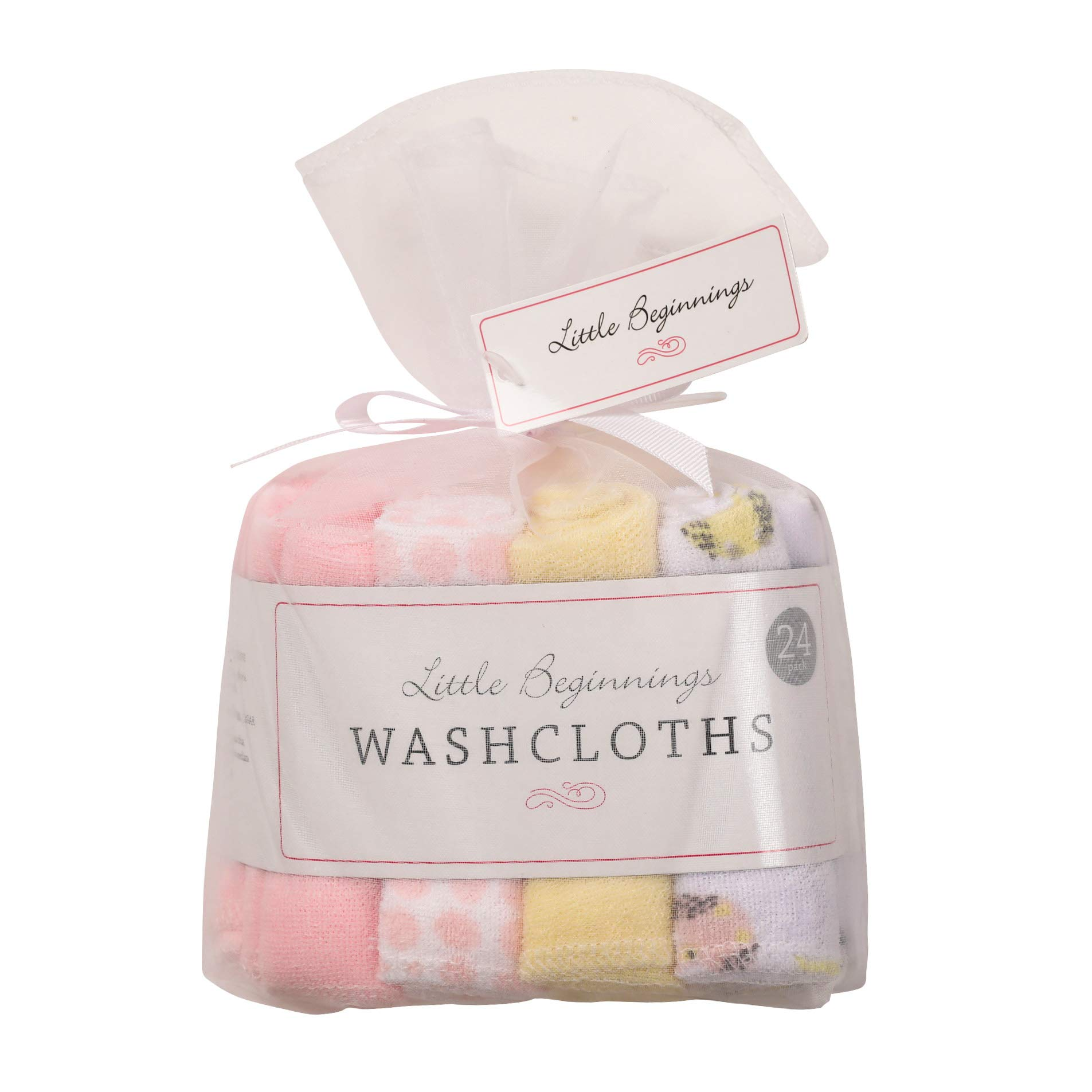 Buttons and Stitches 24 Piece Washcloths, Owls