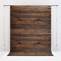 Thick Vinyl Backdrop Brown Vinyl Backdrop 3x5ft/1m(W) x1.5m(H) Wooden Floor Photography Backdrop Portrait Backdrop