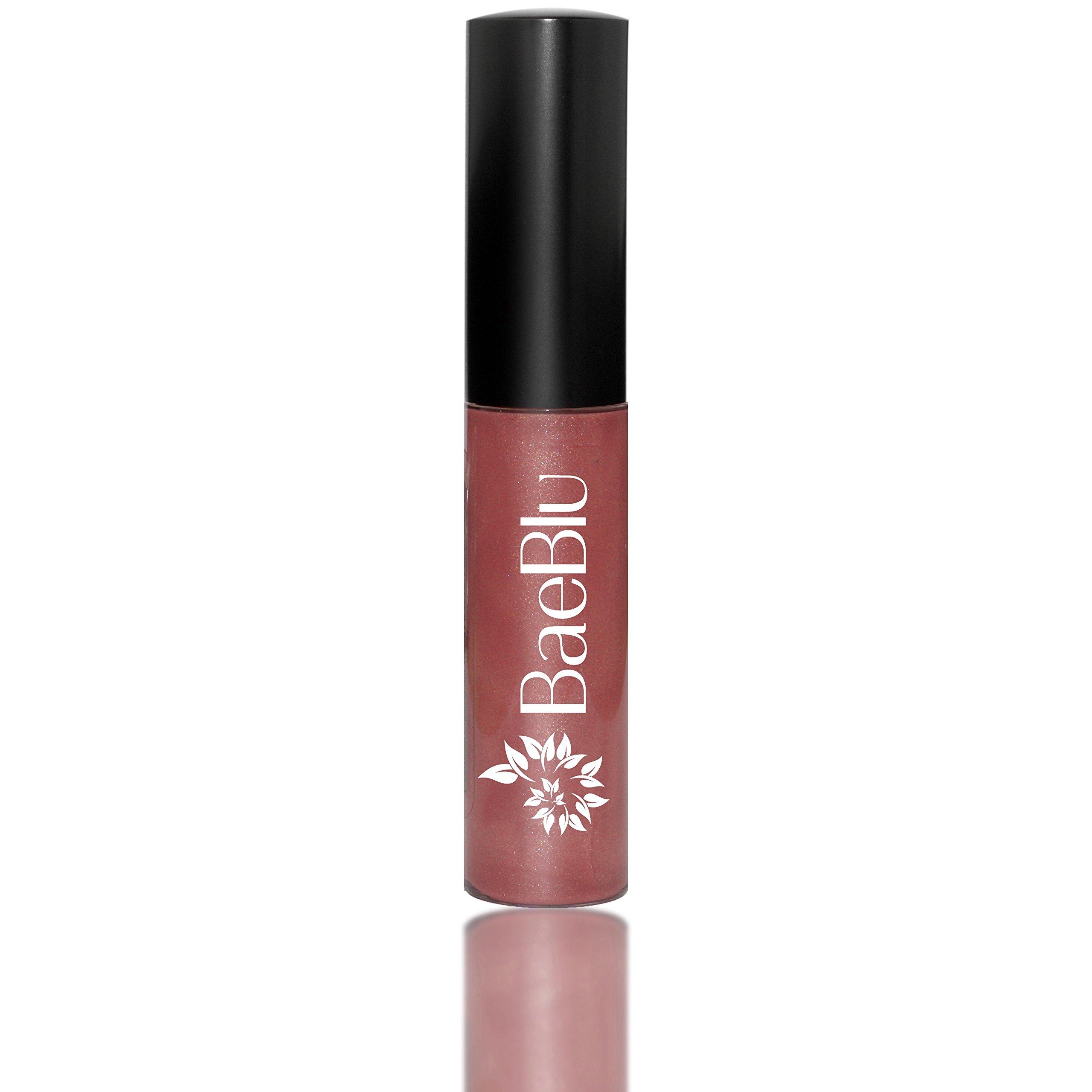 BaeBlu Organic Vegan Lip Gloss, 100% Natural Non-Toxic Moisturizing Ingredients, What a Babe
