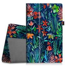 Fintie Folio Case for All-New Amazon Fire HD 10 Tablet (Compatible with 7th and 9th Generations, 2017 and 2019 Releases) - Premium PU Leather Slim Fit Stand Cover with Auto Wake/Sleep, Jungle Night