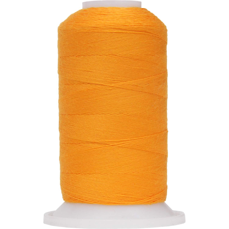 Threadart Polyester All-Purpose Sewing Thread - 600m - 50S/3 - Orange Yellow