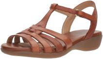 Naturalizer Womens Nanci Leather Open Toe Casual T-Strap Sandals