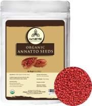 Naturevibe Botanicals Organic Annatto Seeds, 10 ounces | Non-GMO and Gluten Free