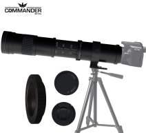 Commander Optics Zoom Lens 420-800mm Telephoto Lens Super Long Range Photo Capability with Tripod Mount for Sony a9, a7R, a7S, a7, a6600, a6100, a6400, NEX-7, and Other E-Mount Digital Cameras