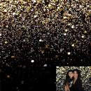 Kate 10x10ft Glitter Photography Backdrops Black Background with Golden Sparkling Backdrop for Wedding Shooting
