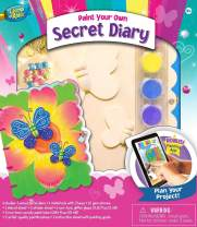 MasterPieces Works of Ahhh Real Wood Large Acrylic Paint & Craft Kit, Secret Diary, Mom's Choice Award, for Ages 4+