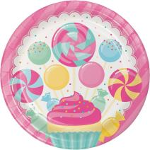 Creative Converting 324831 96 Count Dinner/Large Paper Plates, Candy Bouquet
