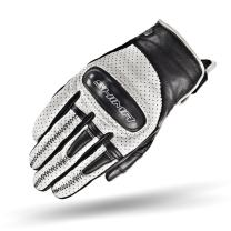SHIMA Caliber Mens Vintage Leather Motorcycle Gloves - White / Large