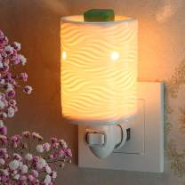 StarMoon Wax Warmer Plug in for Home Décor, Pluggable Home Fragrance Diffuser, No Flame, with One More Bulb (Willow, in1)