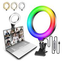 """Ulanzi Video Conference Lighting Kit, 6.3"""" Selfie RGB Ring Light for Monitor Clip On, Laptop Computer Video Conferencing Webcam Light for Remote Working,Zoom Call,Self Broadcasting,Live Streaming"""