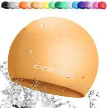 CybGene Swim Cap Silicone Swim Cap for Women and Men, Swimming Cap for Girls and Kids, Swim Capris for Long Hair