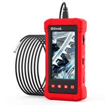 3.9mm Inspection Camera, Oiiwak Industrial & Home Endoscope Borescope Camera 1080P HD 4.3 Inch LCD Screen, Semi-Rigid Waterproof Snake Camera with Light, 8GB TF Card and Tool Box(11.5ft)