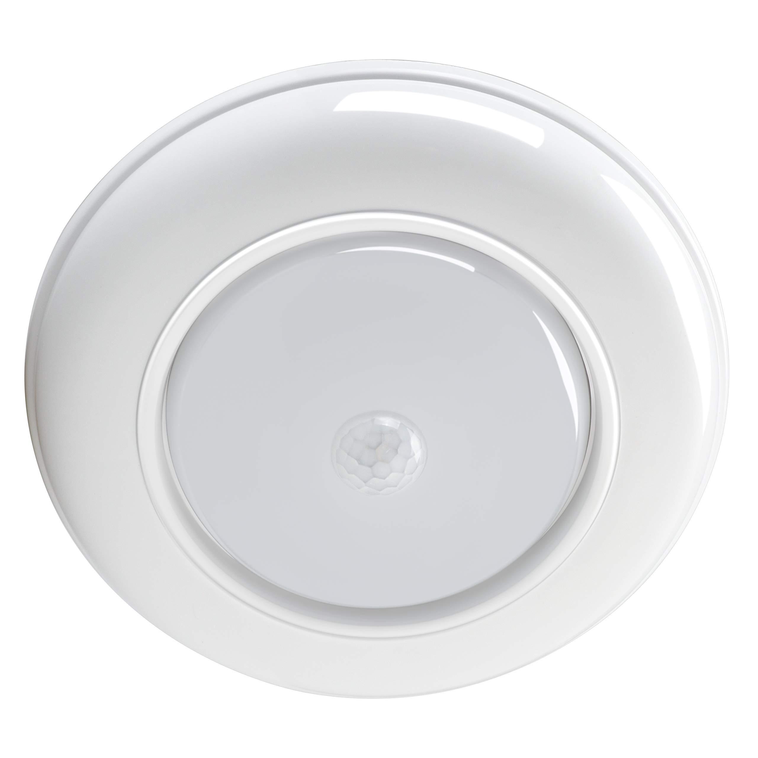 WOOPHEN Motion Sensor Ceiling Light Wireless Battery Powered Motion Sensing Activated Indoor LED Light, 180 Lumen, White