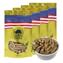 DOL Hand-Selected Sun Dried Cultivated Wisconsin American Ginseng Root Prong 美國威斯康辛州西洋參 花旗參 經濟實惠裝 四袋裝 (113g/Bag)