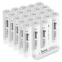 BONAI AA Rechargeable Batteries 2300mAh 1.2V Ni-MH High Capacity 24 Pack