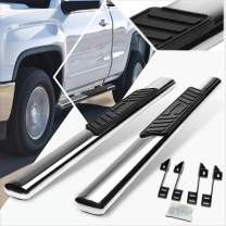 5 Inches Chrome Oval Running Board Side Step Nerf Bar Compatible with Silverado/Sierra Regular Cab 99-14