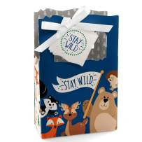 Stay Wild - Forest Animals - Woodland Baby Shower or Birthday Party Favor Boxes - Set of 12