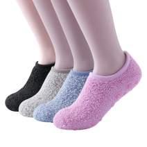 SKOLA 4/6 Cozy Winter Fuzzy Women Socks,Grip Slippers,Fluffy House Non Skid