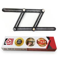 Braxtly Tools EASY ANGLE-ER HEAVY DUTY Template Tool- Ultimate Multi Angle Ruler- For Measuring Angle - Premium Metal Alloy Angle Tool- Adjustable Knobs for Precise Measurement- w/Instruction Manual
