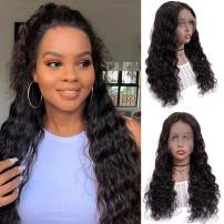 13x6 Lace Front Wigs Human Hair Full Lace Wigs for Black Women 10 Inch BLY Brazilian Loose Deep Wave Hair Wet and Wavy Human Hair with Baby Hair Pre Plucked