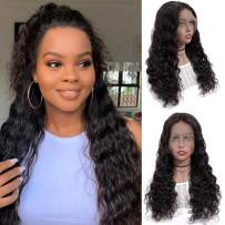 13x6 Lace Front Wigs Human Hair Full Lace Wigs for Black Women 22 Inch BLY Brazilian Loose Deep Wave Hair Wet and Wavy Human Hair with Baby Hair Pre Plucked