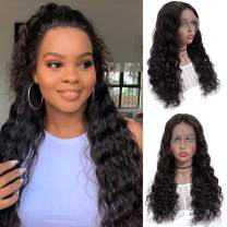 13x6 Lace Front Wigs Human Hair Full Lace Wigs for Black Women 8 Inch BLY Brazilian Loose Deep Wave Hair Wet and Wavy Human Hair with Baby Hair Pre Plucked