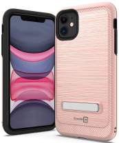 CoverON Metal Kickstand Protective SleekStand Series for iPhone 11 Case, Rose Gold