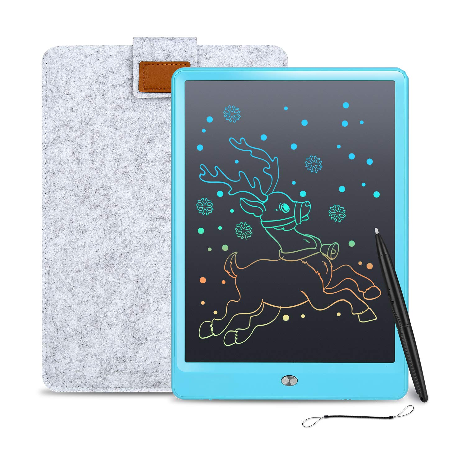 LCD Writing Tablet Cimetech 10 Inch Reusable eWriter, Doodle Drawing Pad Game Playing Board Gift for Toddlers & Kids, Teacher Planner Bulletin Notepad Board with Stylus - Blue