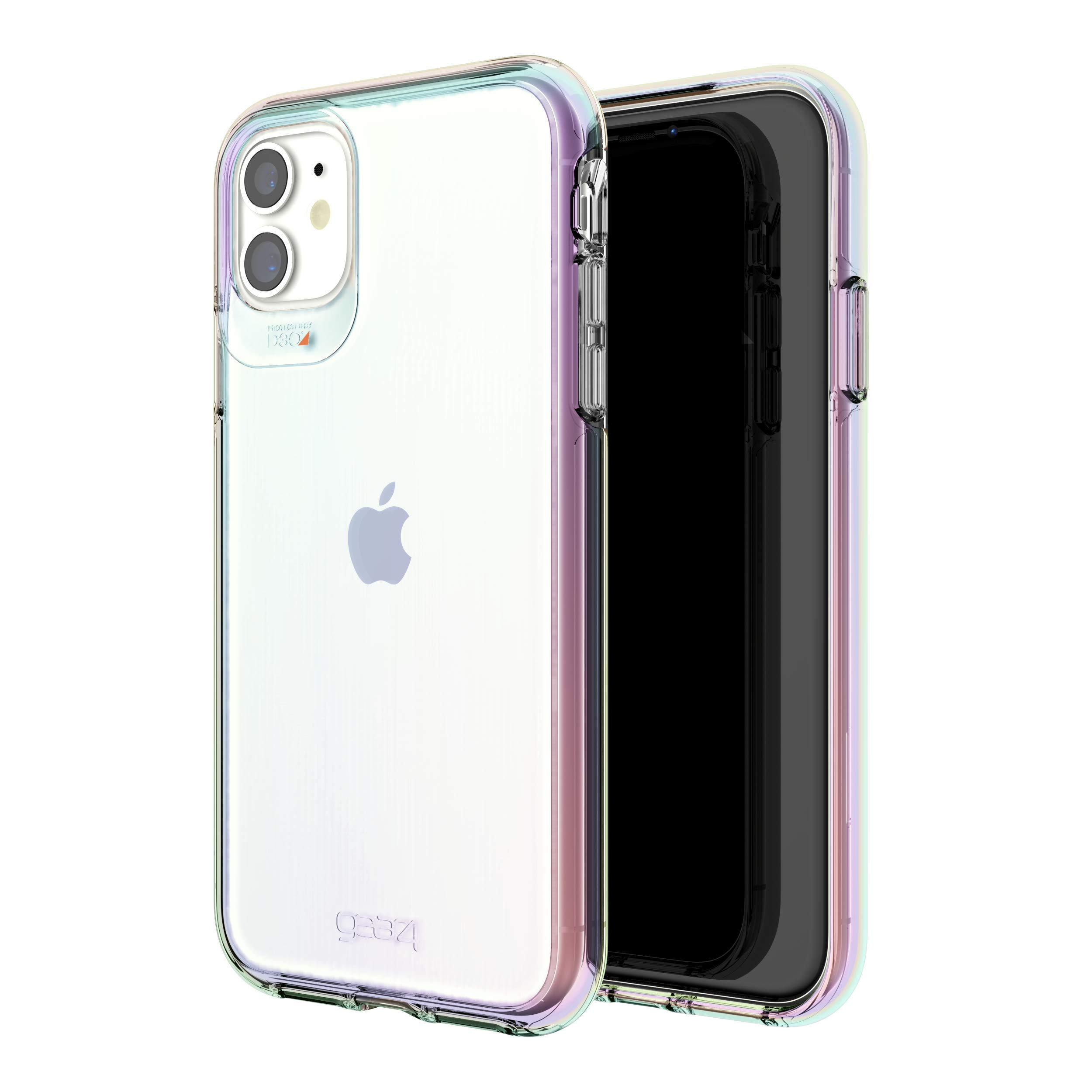 Gear4 Crystal Palace Iridescent Compatible with iPhone 11 Case, Advanced Impact Protection with Integrated D3O Technology, Anti-Yellowing, Phone Cover – Iridescent