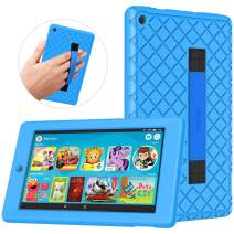 TiMOVO Case Fits All-New Fire 7 Tablet (9th Generation, 2019 Release) - Soft Kids Friendly Shockproof Silicone Cover Shell with Hand Strap Fit Amazon Fire 7 Tablet - Blue