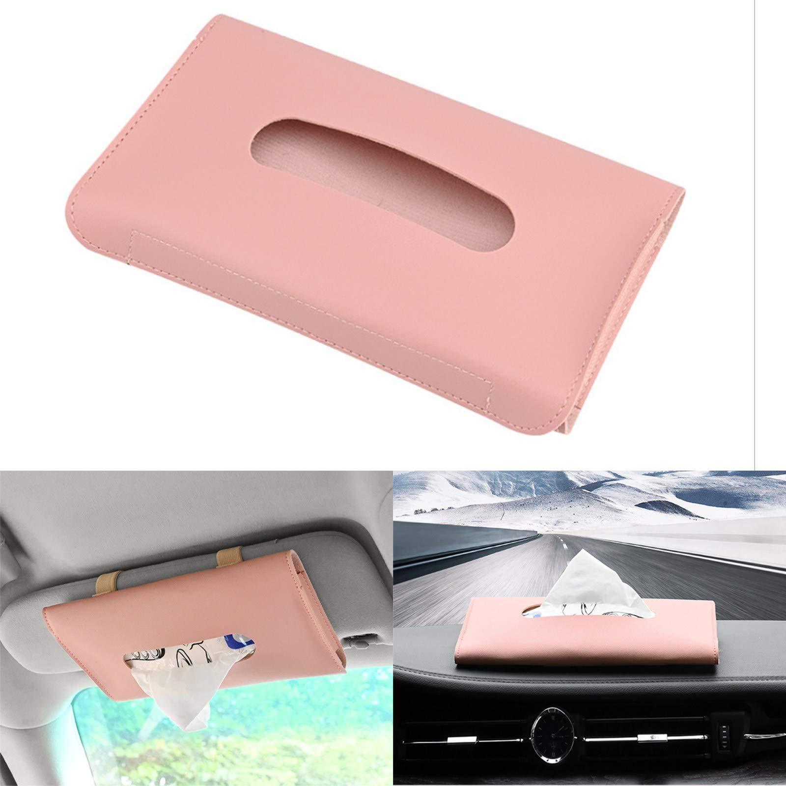 Areyourshop Sun Visor Tissue Holder for Car, Sun Visor Napkin Holder Visor Tissue Holder Tissue Case for Car Tissue Holder PU Leather