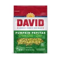 DAVID Green Chili with Lime Pumpkin Pepitas Seeds, Keto Friendly, 5-oz. Resealable Bag