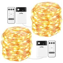 33ft 100 LED String Lights, USB & Battery Operated Copper Wire Fairy Starry String Light with Remote Control and Timer, Indoor Decorative Lights for Bedroom, Party, Wedding, Easter, Mother's Day