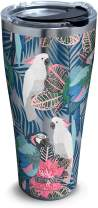 Tervis Tropical Birds Collage Stainless Steel Insulated Tumbler with Clear and Black Hammer Lid, 30oz, Silver