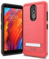 CoverON Metal Kickstand SleekStand Series for LG Aristo 4 Plus Case/LG Prime 2 Case, Racing Red