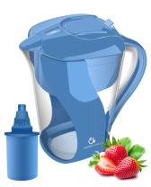 Naples Naturals 109X1 Alkaline Water Filter Pitcher - Removes Chlorine and Contaminants Plus Increases pH (Blue)