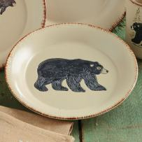 Bear & Moose Stoneware Bear Salad Plate - Cabin Dining Decor