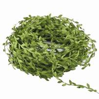 Hecaty 132 Ft Artificial Vines, Artificial Eucalyptus Leaf Garland DIY Greek Wild Jungle Decorative Botanical Greenery for Baby Shower Home Wall Garden Wedding Party Wreaths.