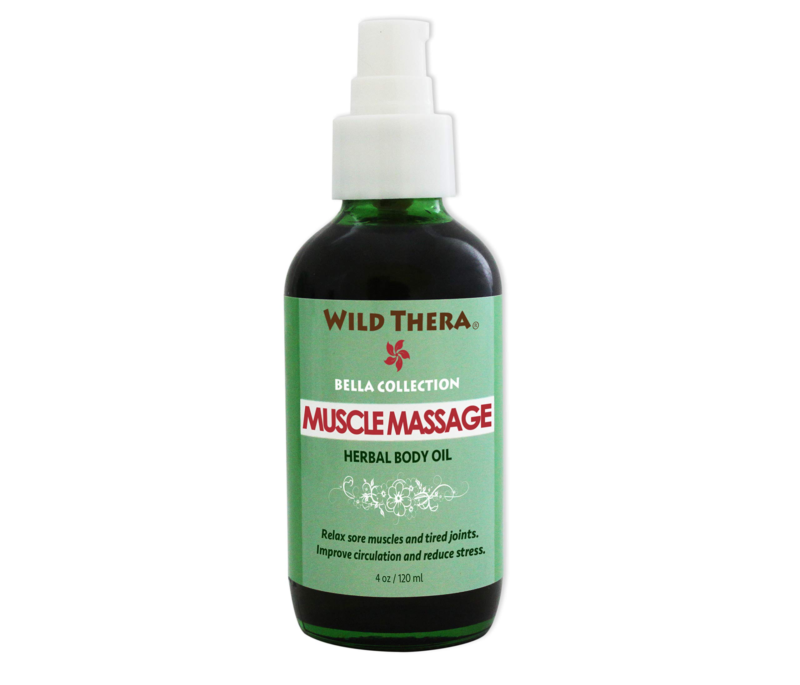 Wild Thera Herbal Muscle Massage Oil. Natural Organic Deep Tissue massage oil with Arnica for sore muscles, joint pain, arthritis, stiffness, injury, athletic recovery and myofascial release.
