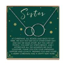 Sister Christmas Necklace - Heartfelt Card & Jewelry Gift Set