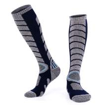 Forestgrow Men's High Performance Ski Socks - Over the Calf Warm Snow Socks for Skiing and Snowboarding