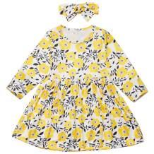 Hipea Baby Girl Clothes Bohemian Short Sleeveless Flower Princess Floral Dress A-line Formal Kids Summer Dress Skirt