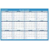 "2020 Erasable Calendar, Dry Erase Wall Planner by AT-A-GLANCE, 36"" x 24"", Large, Double Sided, Horizontal (PM200P28)"