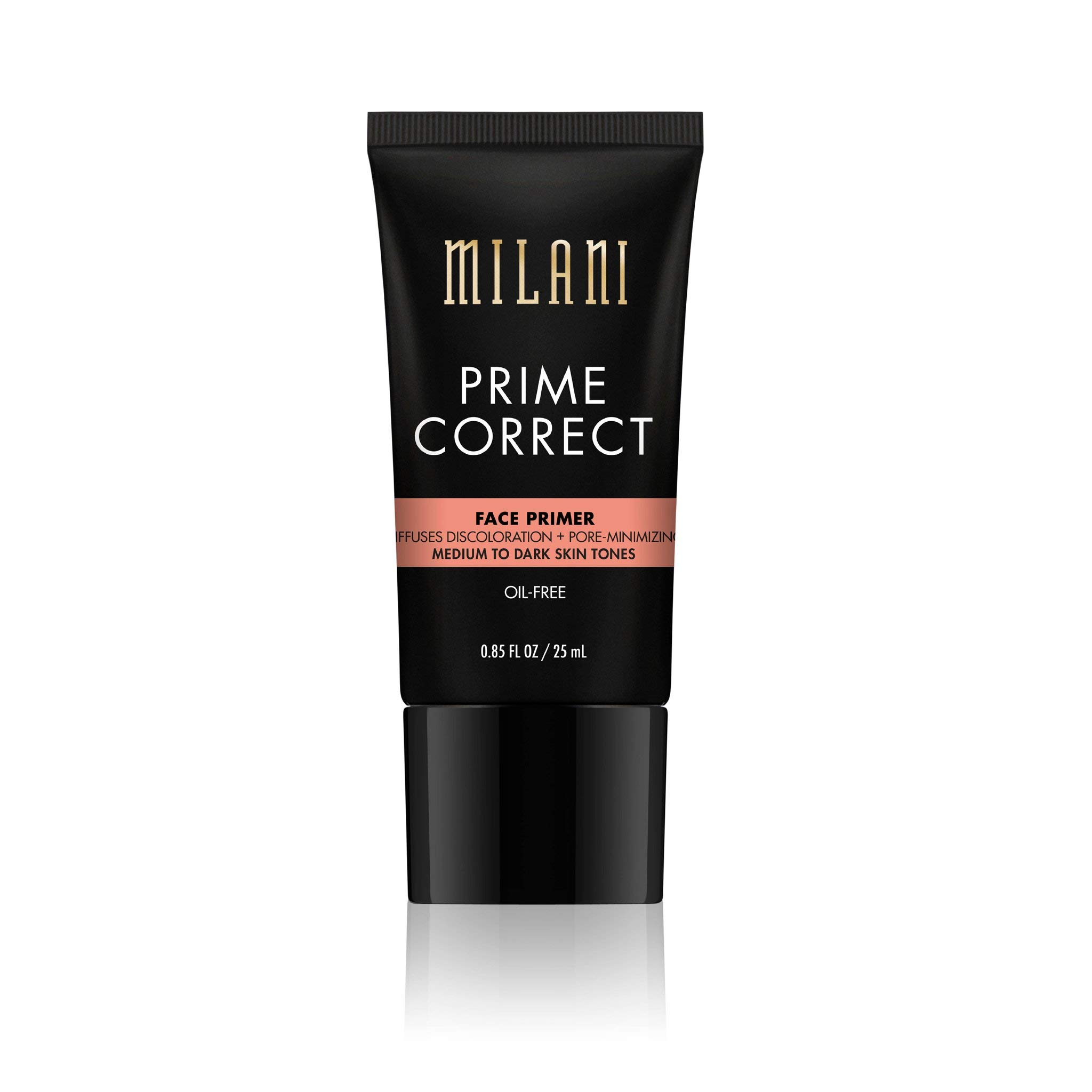 Milani Prime Correct Face Primer - Diffuses Discoloration + Pore-Minimizing - Medium/Dark (0.85 Fl. Oz.) Vegan, Cruelty-Free Face Makeup Primer to Color Correct Skin & Reduce Appearance of Pores