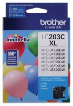 Brother Printer LC203C High Yield Ink Cartridge, Cyan