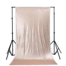 TRLYC 6Ft6Ft Champagne Sequin Photography Backdrop for Wedding and Party