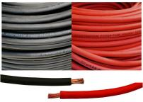1/0 Gauge 1/0 AWG 7.5 Feet Black + 7.5 Feet Red Welding Battery Pure Copper Flexible Cable Wire - Car, Inverter, RV, Solar