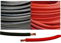 8 Gauge 8 AWG 15 Feet Black + 15 Feet Red Welding Battery Pure Copper Flexible Cable Wire - Car, Inverter, RV, Solar