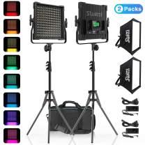 Switti RGB LED Video Light, 50W 360° Full Color Video Lighting Kit, Photography Light for Portrait Studio Video Shooting Live Broadcast, CRI97+, 2600K-10000K, 9 Kinds of The Scene Lights