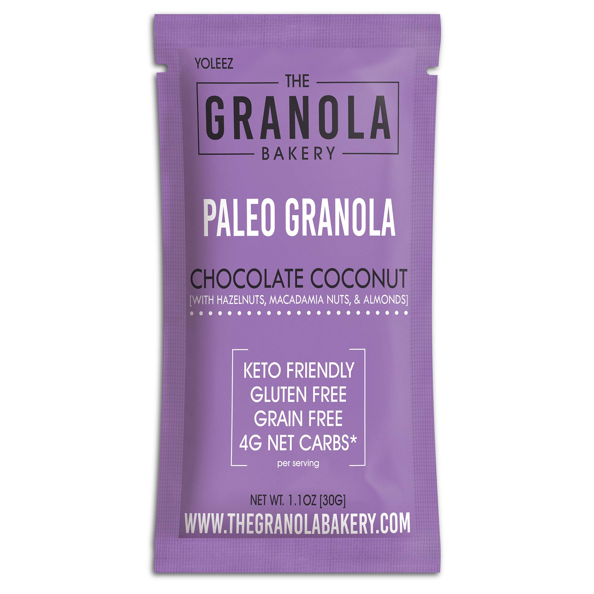 Granola Bakery - Keto Chocolate Paleo Granola Cereal, 4g Net Carb, 10 Packets - Healthy Low Carb Fat Bomb Snack, Gluten Free, Grain Free, Organic Natural Ingredients